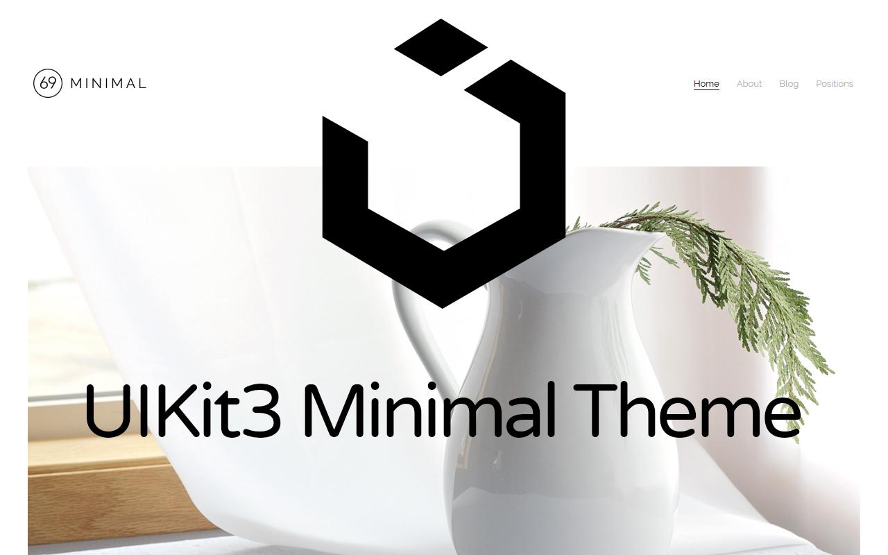 UIkit3 Minimal